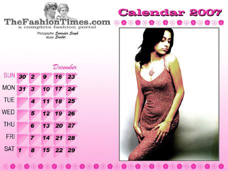 TheFashionTimes.com Calendar 2007